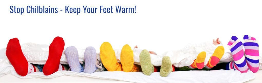 Stop Chilblains - Keep your feet warm